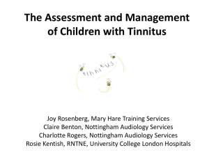 The Assessment and Management of Children with Tinnitus