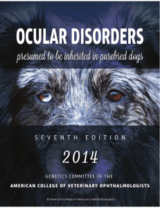 Ocular Disorders Presumed to be Inherited in PureBred Dogs