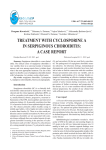 treatment with cyclosporine a in serpiginous choroiditis: a
