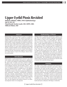 Upper Eyelid Ptosis Revisited - American Association of Physician
