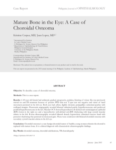Mature Bone in the Eye: A Case of Choroidal Osteoma