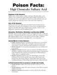Poison Fact Sheet: Sulfuric Acid