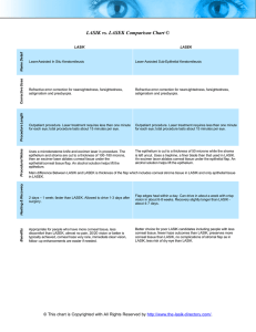 LASIK vs. LASEK Comparison Chart © PDF File