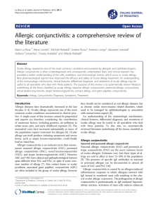 Allergic conjunctivitis: a comprehensive review of the literature