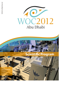 Scientific Program World Ophthalmology Congress®