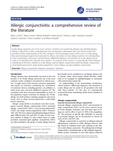 Allergic conjunctivitis: a comprehensive review of the literature Open Access