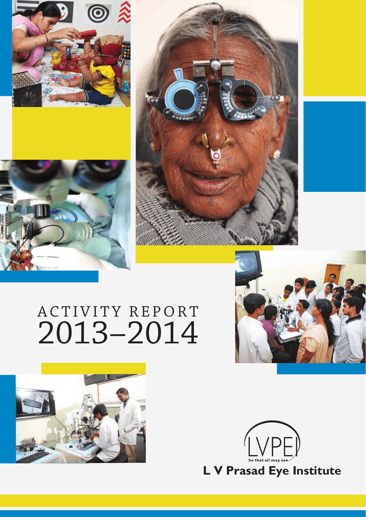 ACTIVITY REPORT - LV Prasad Eye Institute