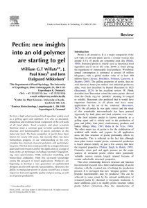 Pectin: new insights into an old polymer are