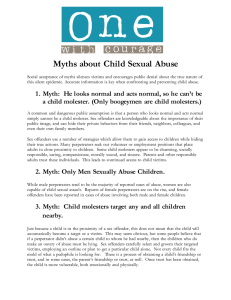 Myths about Child Sexual Abuse