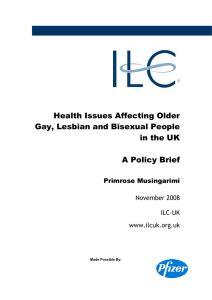 Health Issues Affecting Older Gay, Lesbian and Bisexual People in
