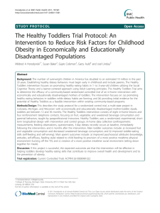 The Healthy Toddlers Trial Protocol: An