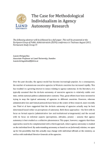 The Case for Methodological Individualism in Agency Autonomy