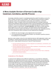 A Meta-Analytic Review of Servant Leadership