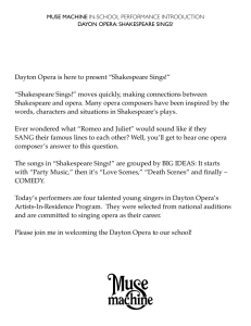 "Dayton Opera is here to present ""Shakespeare"