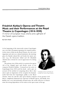 Friedrich Kuhlau`s Operas and Theatre Music and their