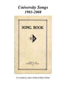 University School Songs - University at Buffalo Libraries
