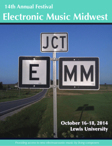 Festival Program - Electronic Music Midwest