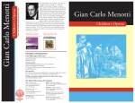Gian Carlo Menotti - Scores on Demand