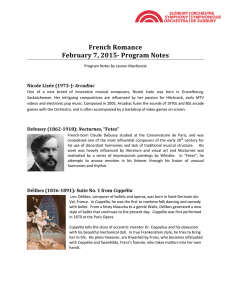 Program Notes - Sudbury Symphony Orchestra