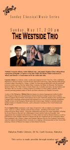 Violinist Concetta Abbate, violist Michael Alas , and pianist Stephen