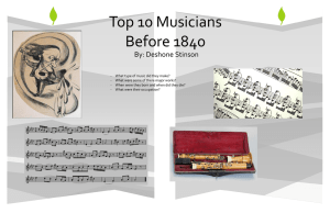 Top Ten Musicians Before 1840