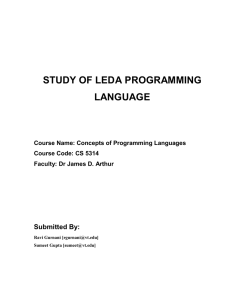Overview of Leda Programming Language