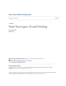 Waul`s Texas Legion: Towards Vicksburg