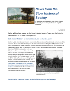 April, 2015 - Stow Historical Society