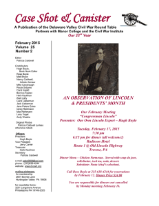 February - Delaware Valley Civil War Roundtable