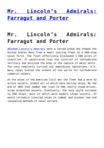 Mr. Lincoln`s Admirals: Farragut and Porter