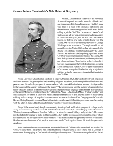 General Joshua Chamberlain`s 20th Maine at Gettysburg LATEST.p65
