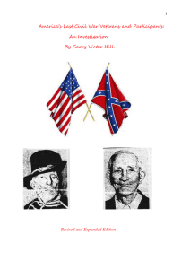 America`s Last Civil War Veterans and Participants