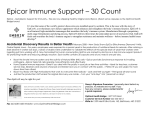 Epicor Immune Support – 30 Count