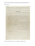Transcript of 15th Amendment to the U.S. Constitution