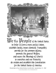 Print - Preamble to US Constitution