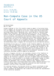 Non-Compete Case in the US Court of Appeals