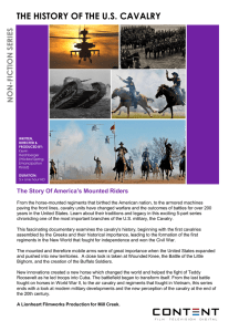 the history of the us cavalry non