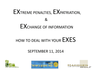EXTREME PENALTIES, EXPATRIATION