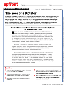 `The Yoke of a Dictator` - The New York Times Upfront