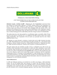 Dollarama Closes Initial Public Offering