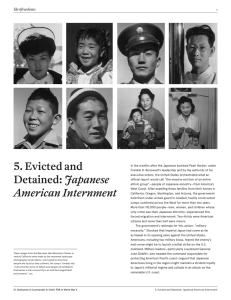 5. Evicted and Detained: Japanese American Internment
