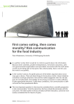 Risk communication for the food industry