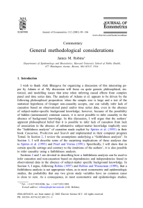 General methodological considerations