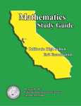 CAHSEE Math Study Guide - Nevada Joint Union High School District