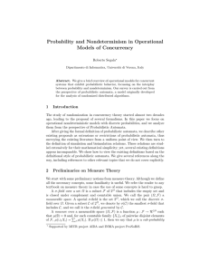 Probability and Nondeterminism in Operational Models of