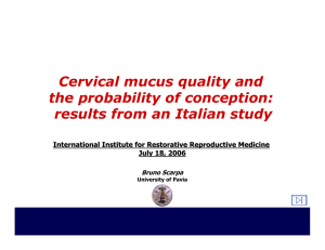 Cervical mucus quality and the probability of conception