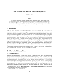 The Mathematics Behind the Birthday Attack