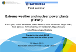 Extreme weather and nuclear power plants (EXWE)