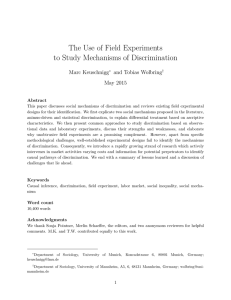 The Use of Field Experiments to Study Mechanisms of Discrimination