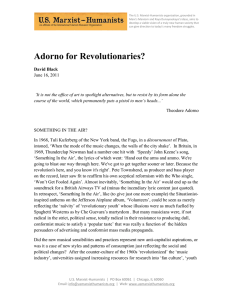 Adorno for Revolutionaries? - The International Marxist